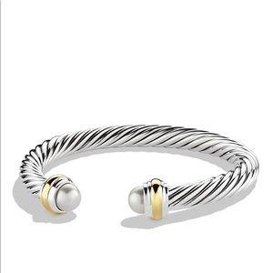 David Yurman Cable Classics Bracelet Pearl Gold